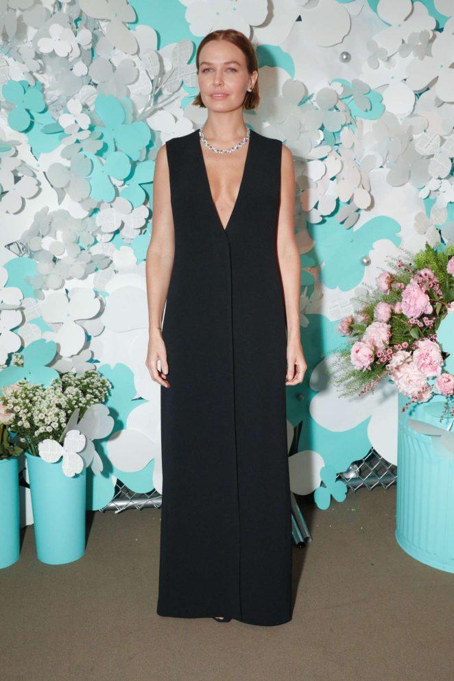 Lara Worthington - Tiffany Paper Flowers Event in New York City