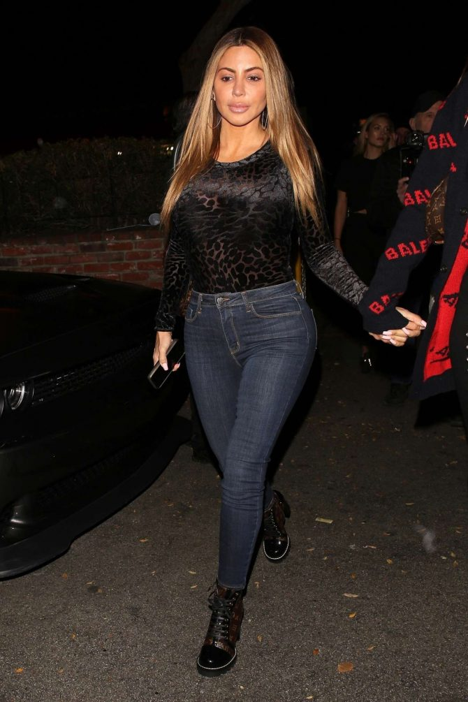 Larsa Pippen at Delilah Nightclub in West Hollywood