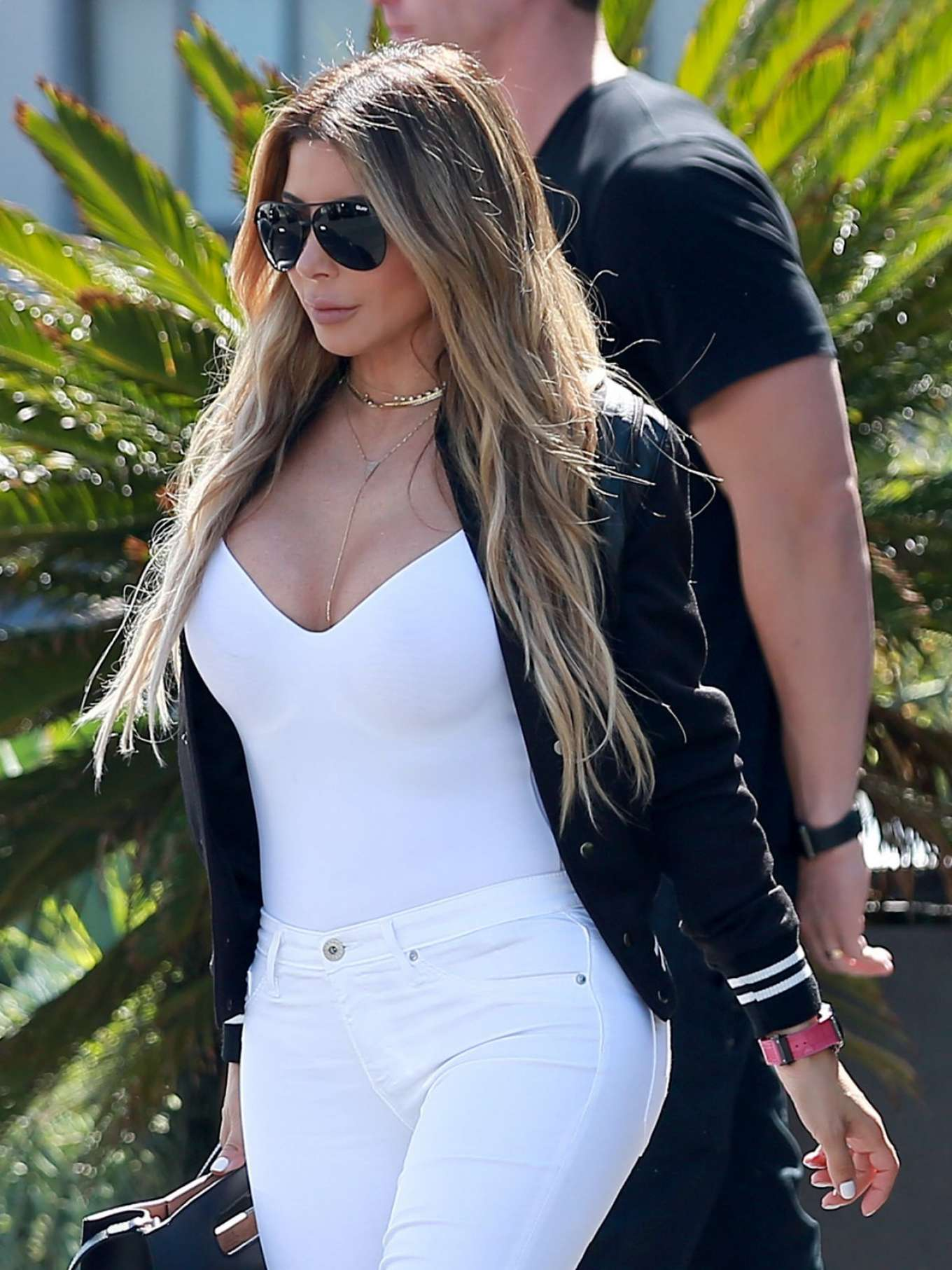 Larsa Pippen In Tight Jeans Out In Culver City