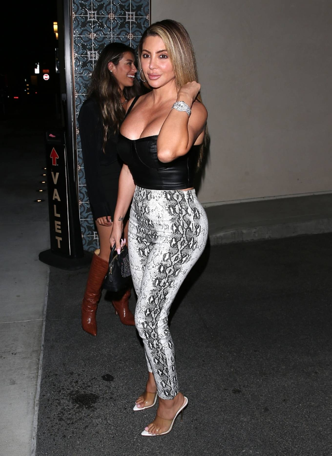 Larsa Pippen - Night out at 'Olivetti' Restaurant in West Hollywood