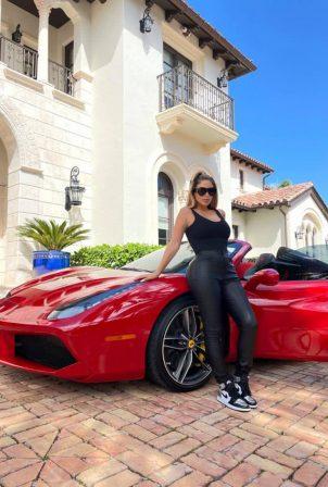 Larsa Pippen - Posing at her new $320k Ferrari in Ft. Lauderdale