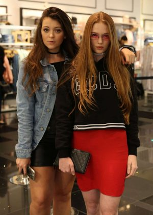 Larsen Thompson and Krissy Saleh - Forever 21 Presents: Justine Skye Live Event in Glendale