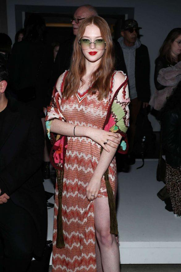 Larsen Thompson - Anna Sui Fashion Show 2020 at New York Fashion Week