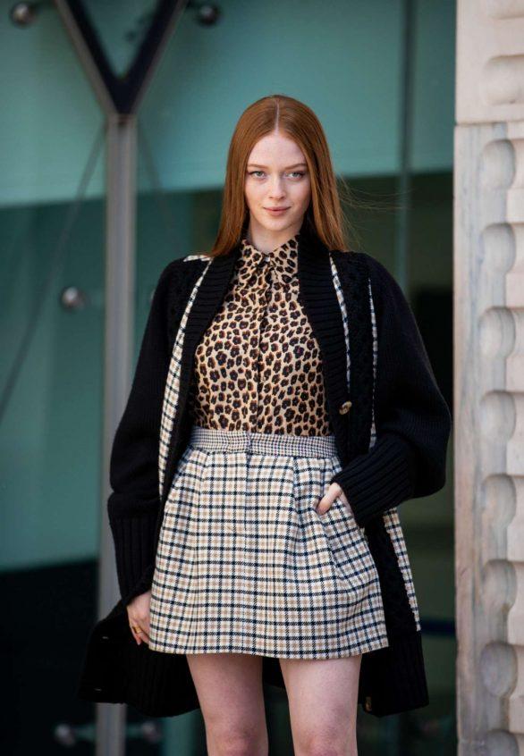 Larsen Thompson - In mini skirt outside Vivetta at 2020 Milan Fashion Week