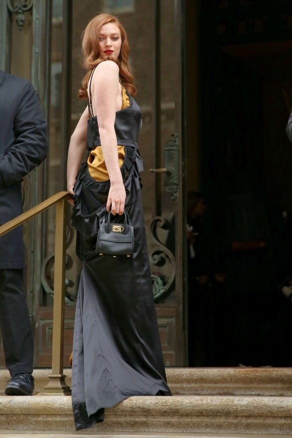 Larsen Thompson is seen during New York Fashion Week