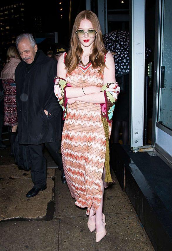 Larsen Thompson - Leaving Anna Sui Fashion Show 2020 at New York Fashion Week