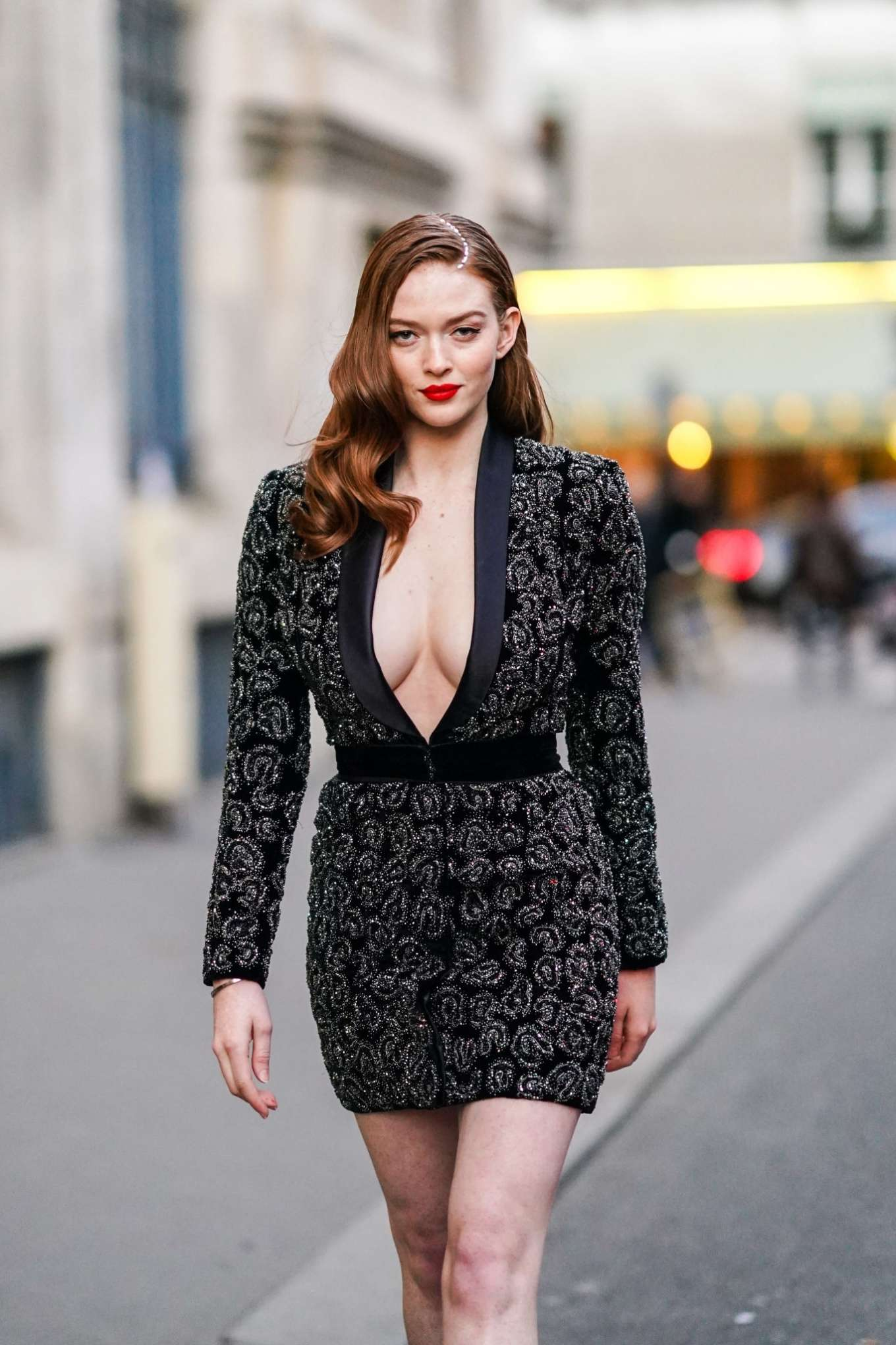 Larsen Thompson - Out during Paris Fashion Week