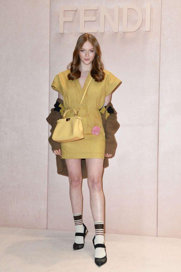 Larsen Thompson - Posing at Fendi show at Milan Fashion Week 2020