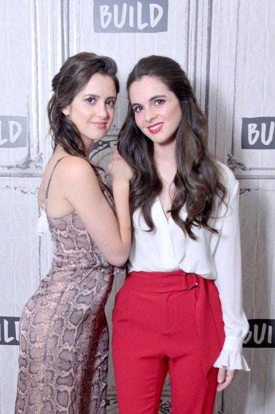 Laura and Vanessa Marano - Visit Build to discuss the movie 'Saving Zoe' in NYC