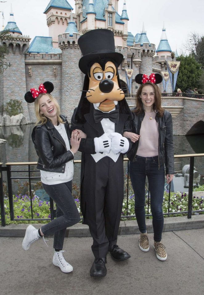 Laura Carmichael and Michelle Dockery at Disneyland in Anaheim