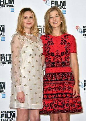 Laura Carmichael and Rosamund Pike - 'A United Kingdom' Photocall in London