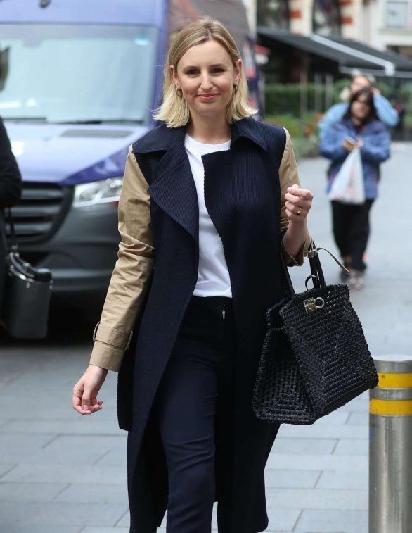 Laura Carmichael - Arrives at the Global Offices in London