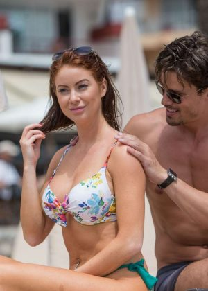 Laura Carter in Bikini on holiday in Ibiza