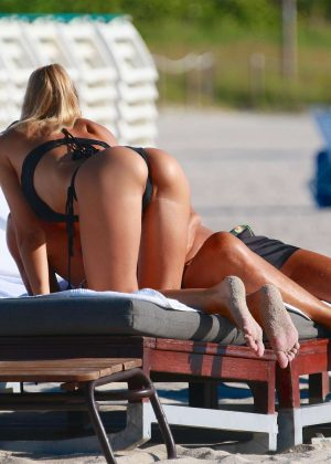 Laura Cremaschi: Black Bikini Candids on Miami Beach-03
