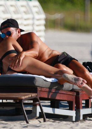 Laura Cremaschi: Black Bikini Candids on Miami Beach-04