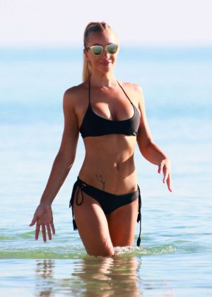 Laura Cremaschi: Black Bikini Candids on Miami Beach-09