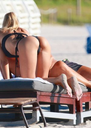 Laura Cremaschi: Black Bikini Candids on Miami Beach-15
