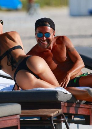 Laura Cremaschi: Black Bikini Candids on Miami Beach-17