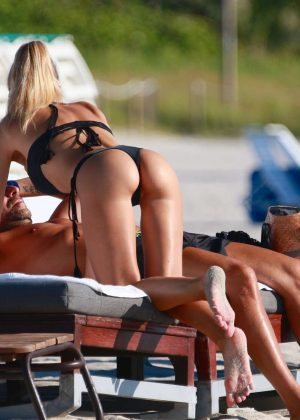 Laura Cremaschi: Black Bikini Candids on Miami Beach-22