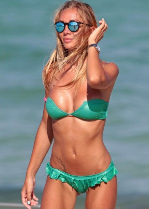 Laura Cremaschi in Green Bikini in Miami