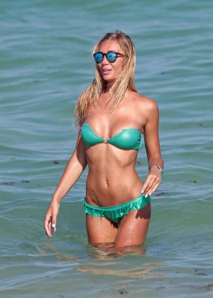 Laura Cremaschi in Green Bikini -03