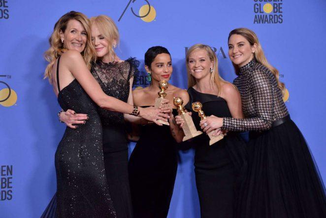 Laura Dern Nicole Kidman, Zoe Kravitz, Reese Witherspoon and Shailene Woodley - 2018 Golden Globe Awards