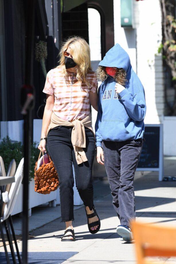 Laura Dern - Running errands with daughter Jaya Harper in Brentwood