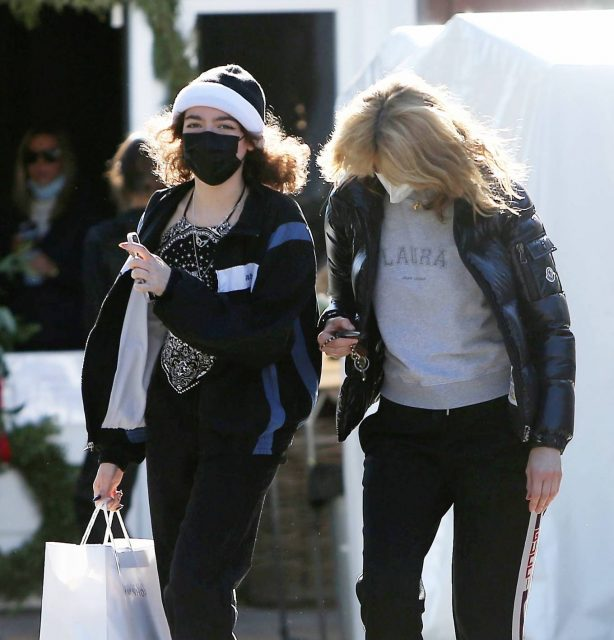 Laura Dern - Shopping candids with her daughter Jaya Harper in Brentwood