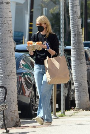 Laura Dern - Wears a hand brace while out in Los Angeles