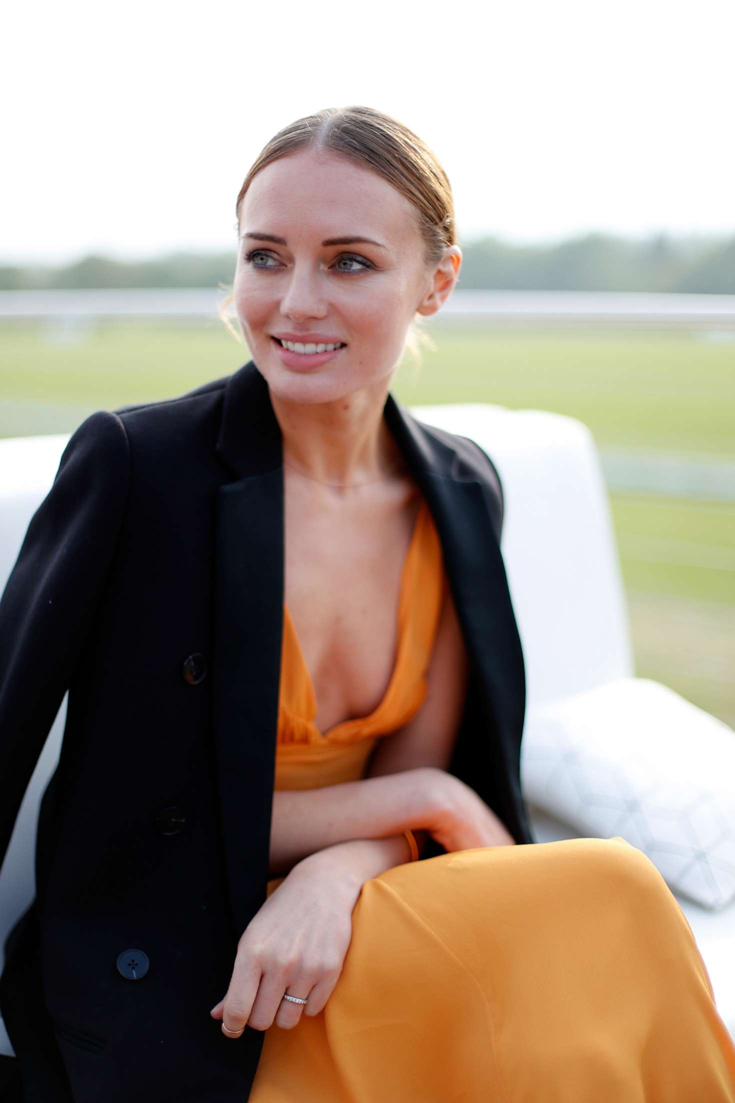 Laura Haddock Audi Polo Challenge Day One In Ascot