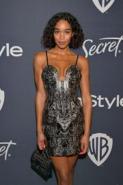 Laura Harrier - 2020 InStyle and Warner Bros Golden Globes Party in Beverly Hills