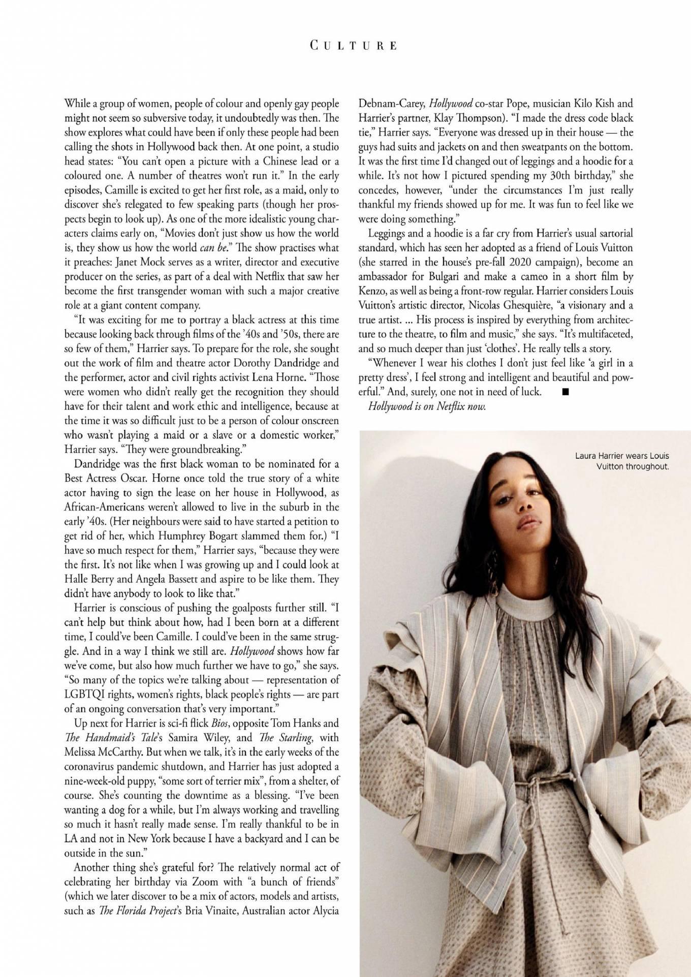Laura Harrier 2020 : Laura Harrier – Harpers Bazaar Australia 2020-01