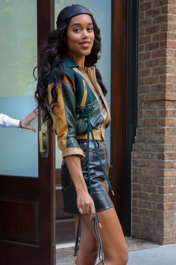 Laura Harrier - Leaving The Greenwich Hotel in NYC