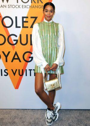 Laura Harrier - Louis Vuitton 'Volez, Voguez, Voyagez' Exhibition Opening in NY