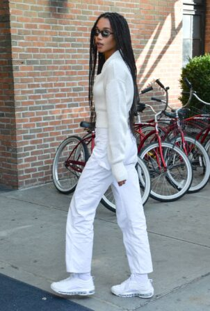Laura Harrier - Steps out in New York City