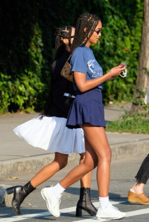 Laura Harrier - Steps out with friends in New York