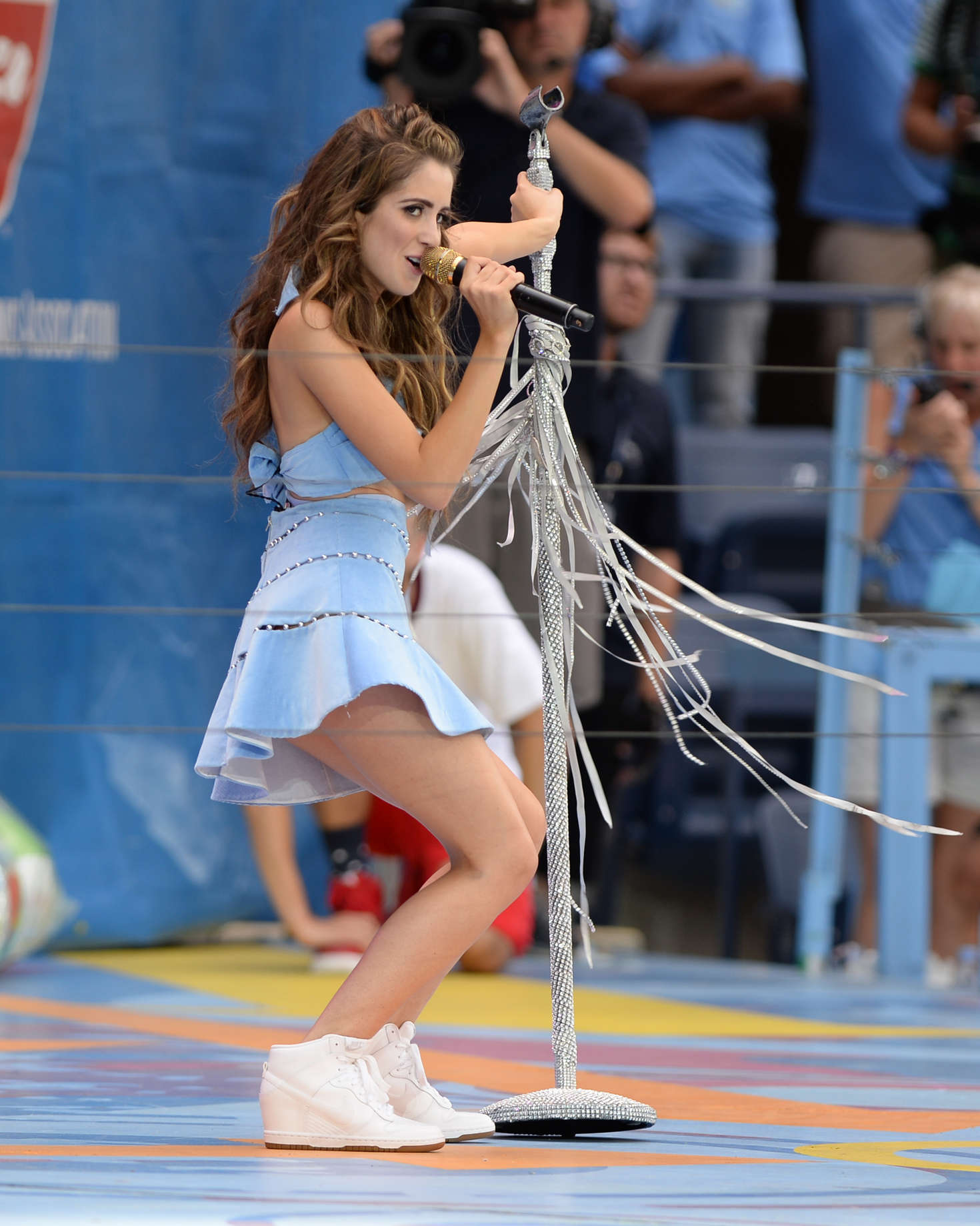Laura Marano Arthur Ashe Kids Day at USTA Billie Jean King