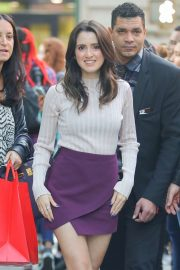 Laura Marano in Mini Skirt - Out in New York