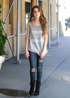 Laura Marano in Ripped Jeans Out in NYC