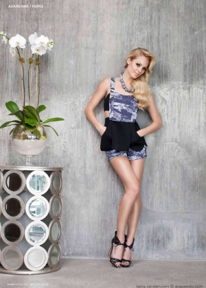 Laura Vandervoort - Ajoure Magazin (July 2015)