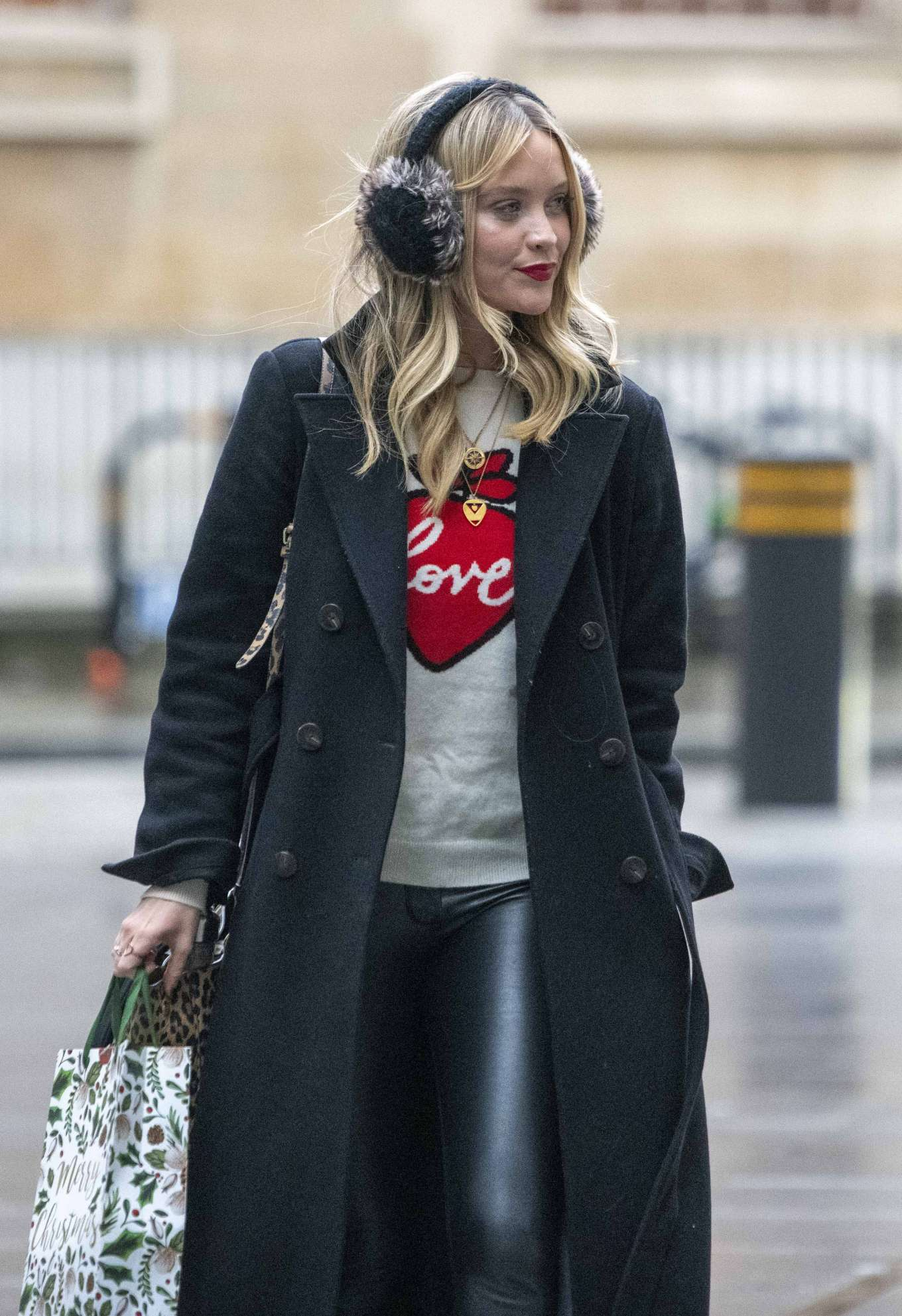 Laura Whitmore - Arrives at BBC Radio 5 Live show in London