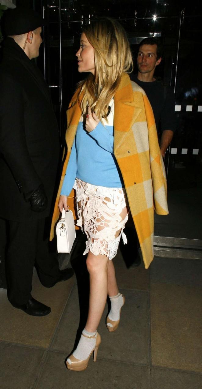Laura Whitmore in White Mini Skirt -10