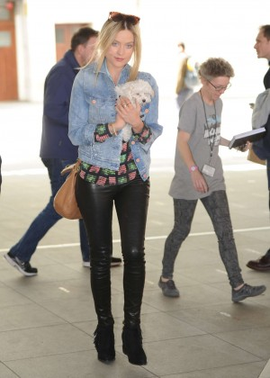 Laura Whitmore in Leather at BBC Studios in London