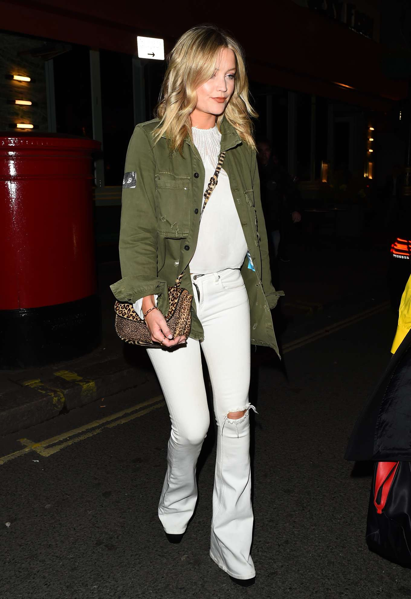 Laura Whitmore at Sexy Fish Restaurant in Mayfair