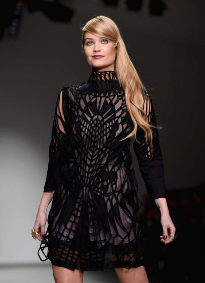 Laura Whitmore - Catwalk 2015 Bora Aksu Fashion Show in London