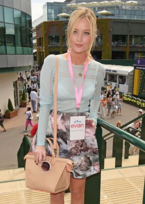 Laura Whitmore - Evian Live young suite on the opening day of Wimbledon in London