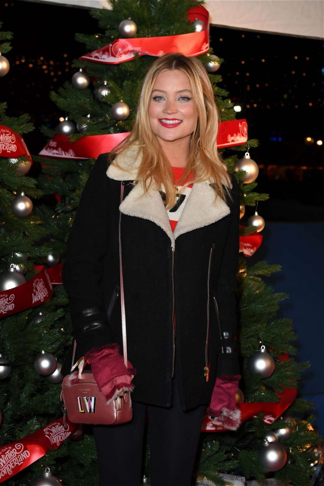 Laura Whitmore - Hyde Park Winter Wonderland VIP Launch in London