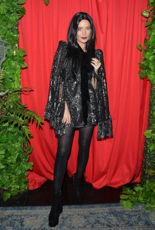 Laura Whitmore - In a Halloween costume for All Stars cabaret in London