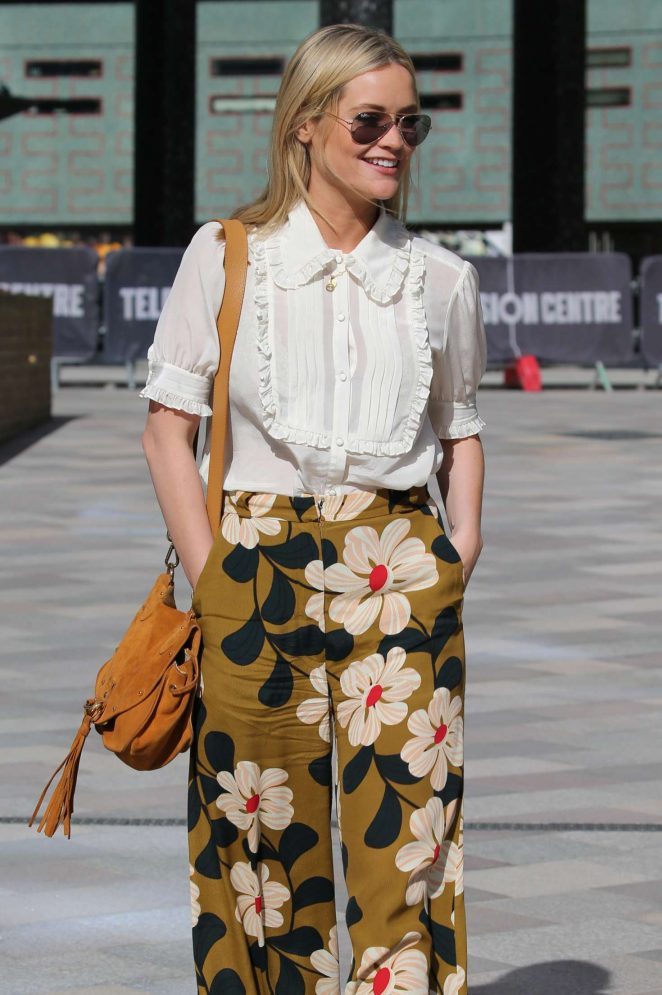 Laura Whitmore in Floral Pants at ITV Studios in London