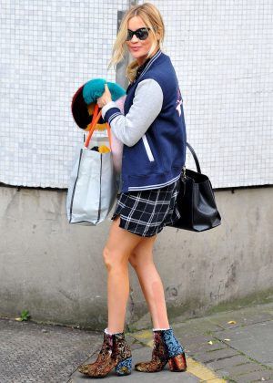 Laura Whitmore in Mini Dress at ITV Studios in London